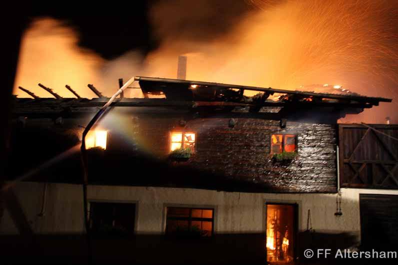 Brand bei Hengststation Bachl